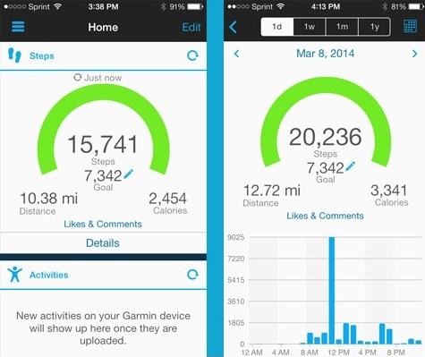Garmin vivofit fitness tracker app