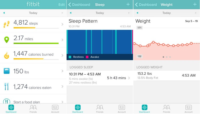 fitbit fitness tracker ios app