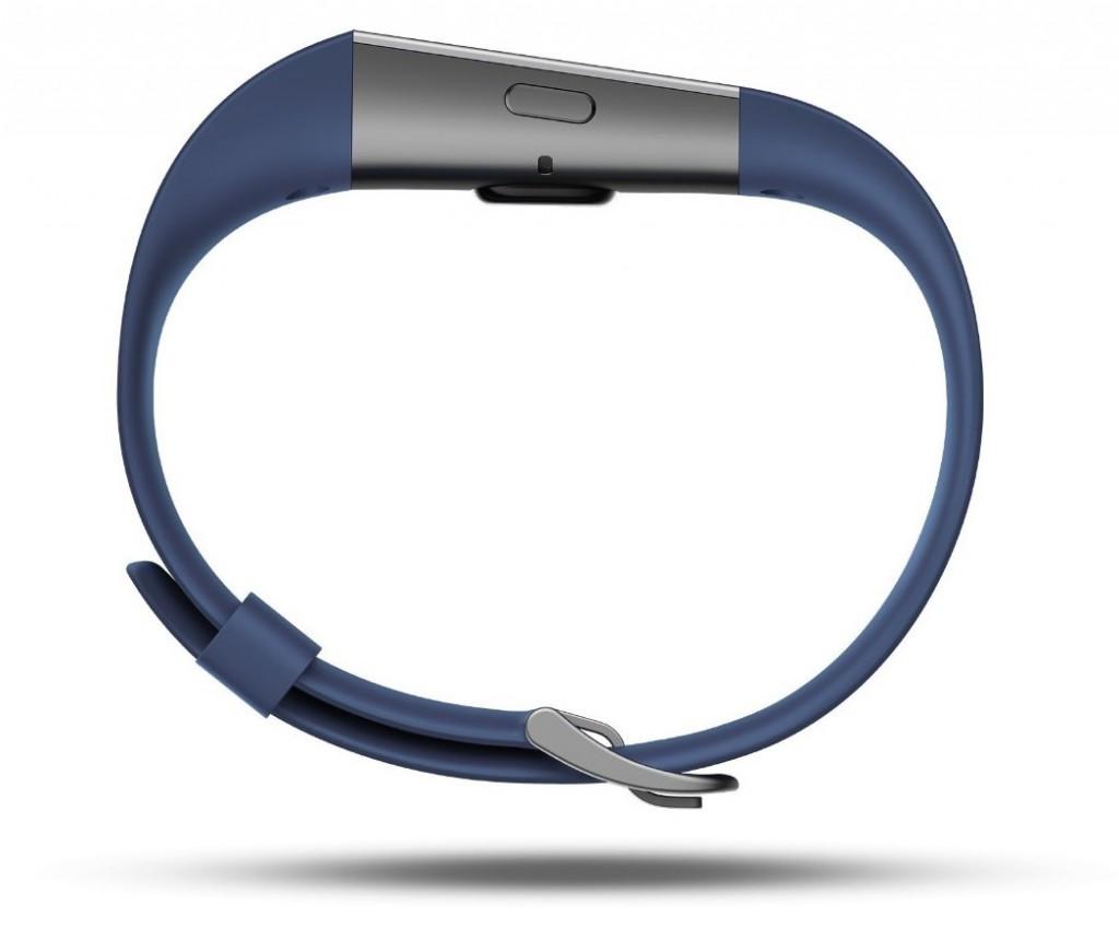 Fitbit Surge blue side