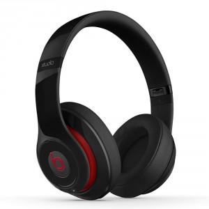 beats studio wireless over ear headphone black red
