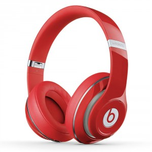 beats studio wireless over ear headphone red