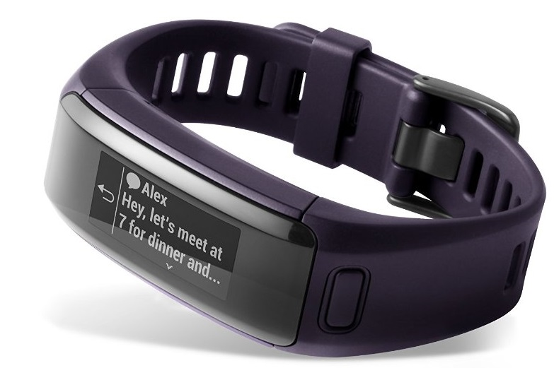 Garmin_Vivosmart_HR_Purple_Front