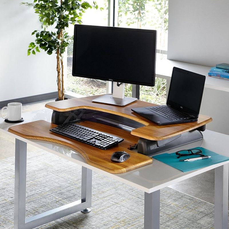 VARIDESK_Height_Adjustable_Standing_desk_walnut_butchers_block