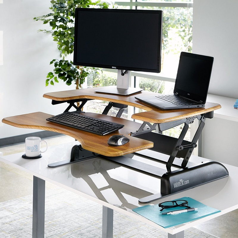 VARIDESK_Height_Adjustable_Standing_desk_walnut_butchers_block_