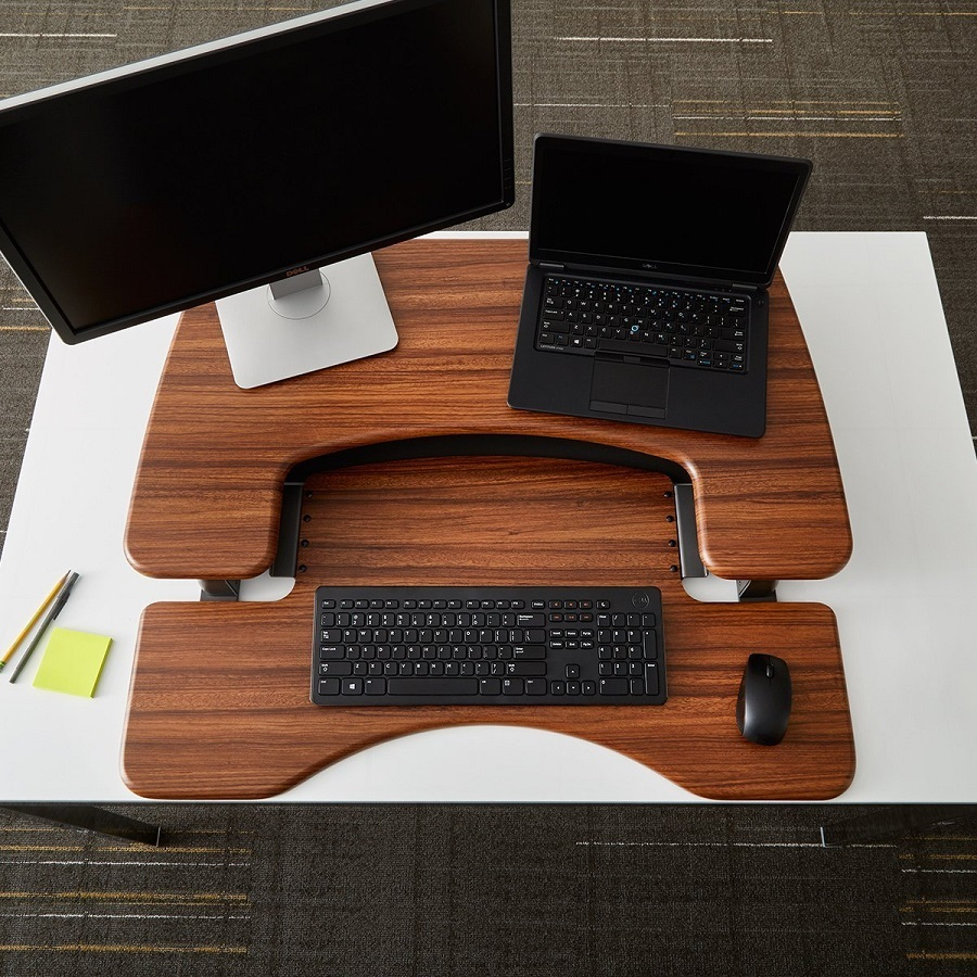 VARIDESK_Height_Adjustable_Standing_desk_walnut_dark_wood_